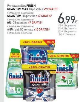 Oferta de Detergente lavavajillas Finish por 6,99€