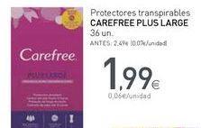 Oferta de Protegeslip Carefree por 1,99€