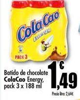 Oferta de Batido de chocolate Cola Cao por 1,49€
