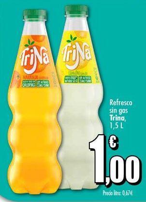 Oferta de Refresco sin gas Trina por 1€