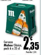 Oferta de Cerveza Mahou por 2,35€