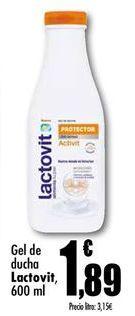 Oferta de Gel de baño Lactovit por 1,89€