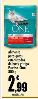 Oferta de Comida para gatos Purina One por 2,99€