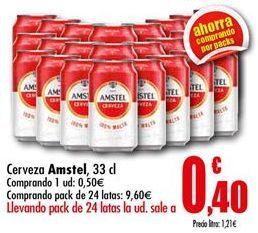 Oferta de Cerveza Amstel por 0,5€