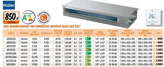 Oferta de Aire acondicionado Haier por 850€