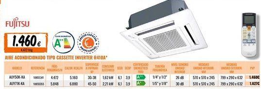 Oferta de Aire acondicionado Fujitsu por 1460€
