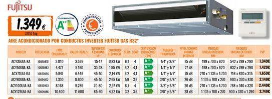 Oferta de Aire acondicionado Fujitsu por 1349€