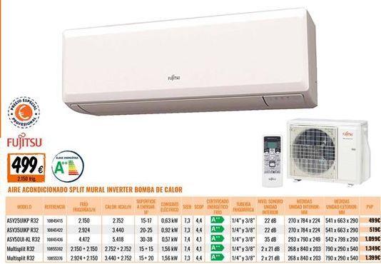 Oferta de Aire acondicionado Fujitsu por 499€