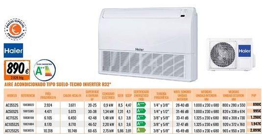 Oferta de Aire acondicionado Haier por 890€