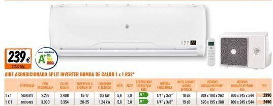 Oferta de Aire acondicionado por 239€