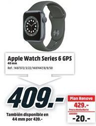 Oferta de Apple Watch por 409€