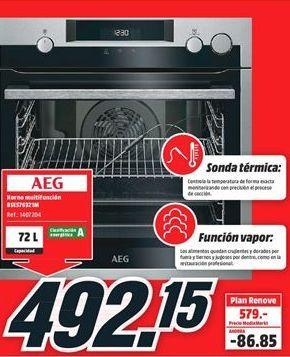 Oferta de Horno multifunción AEG por 492,15€