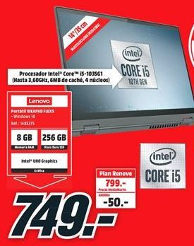Oferta de Ordenador portátil Lenovo por 749€