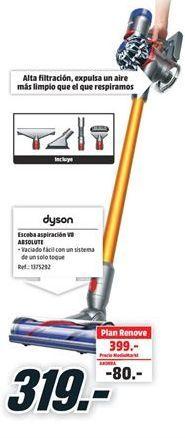 Oferta de Aspirador escoba Dyson por 319€