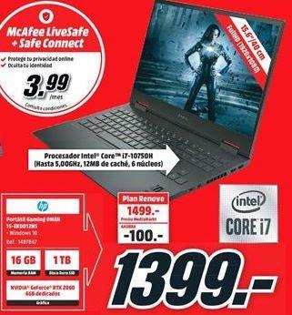 Oferta de Ordenador portátil HP por 1399€
