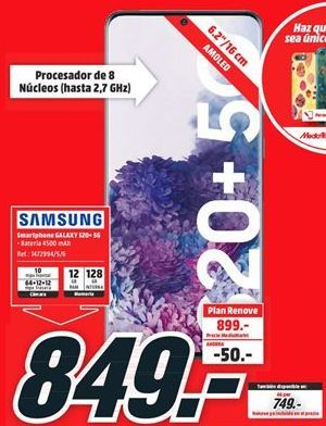 Oferta de Smartphones Samsung por 849€