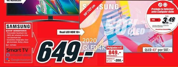 Oferta de Tv led 50'' Samsung por 649€