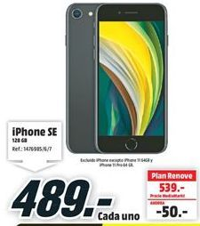 Oferta de IPhone SE por 489€