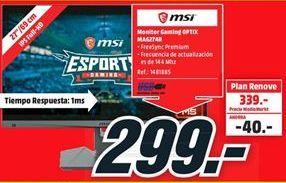 Oferta de Monitor MSI por 299€