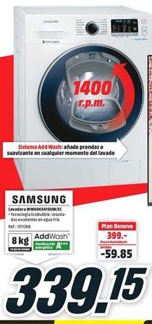 Oferta de Lavadora Samsung por 339,15€