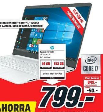 Oferta de Ordenador portátil HP por 799€