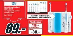 Oferta de Cepillo de dientes eléctrico Oral B por 89€