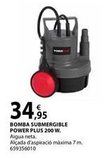 Oferta de Bomba sumergible Power plus por 34,95€