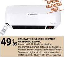 Oferta de Calefactor Orbegozo por 49,95€
