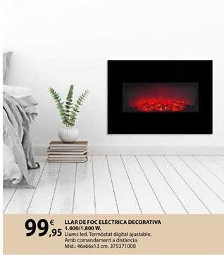 Oferta de Chimenea eléctrica por 99,95€