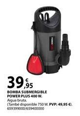 Oferta de Bomba sumergible Power plus por 39,95€