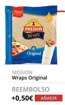Oferta de Wraps Original Mission por