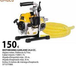 Oferta de Motobomba Garland por 150€