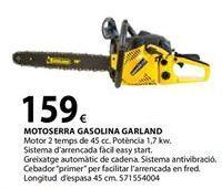 Oferta de Motosierra a gasolina Garland por 159€