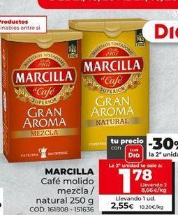 Oferta de Café molido Marcilla por 1,78€