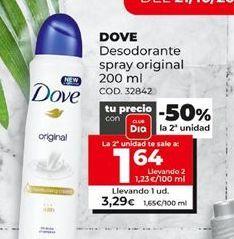 Oferta de Desodorante Dove por 3,29€