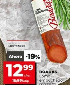 Oferta de Lomo embuchado Boadas por 12,99€