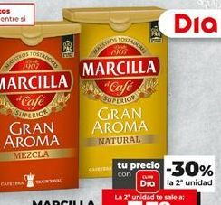 Oferta de Café molido mezcla Marcilla por 1,78€