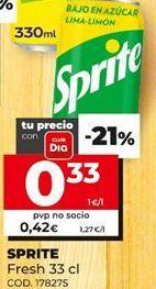 Oferta de Refrescos Sprite por 0,33€