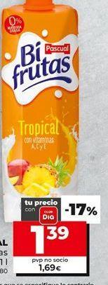 Oferta de Zumo con leche Pascual por 1,39€