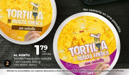 Oferta de Tortilla de patatas por 1,79€
