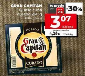 Oferta de Queso curado Gran Capitán por 3,07€