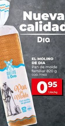 Oferta de Pan de molde Dia por 0,95€