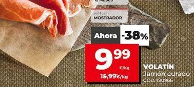 Oferta de Jamón curado Volatín por 9,99€