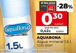 Oferta de Agua Aquabona por 0,3€