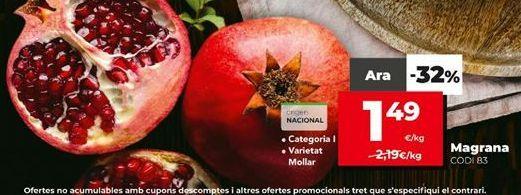 Oferta de Granadas por 1,49€