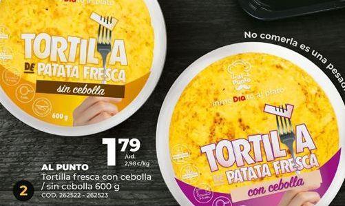 Oferta de Tortilla AL PUNTO por 1,79€