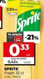 Oferta de Refresco de limón Sprite por 0,33€