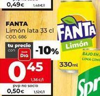 Oferta de Refresco de limón fanta por 0,45€