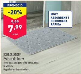 Oferta de Alfombra de baño por 7,99€