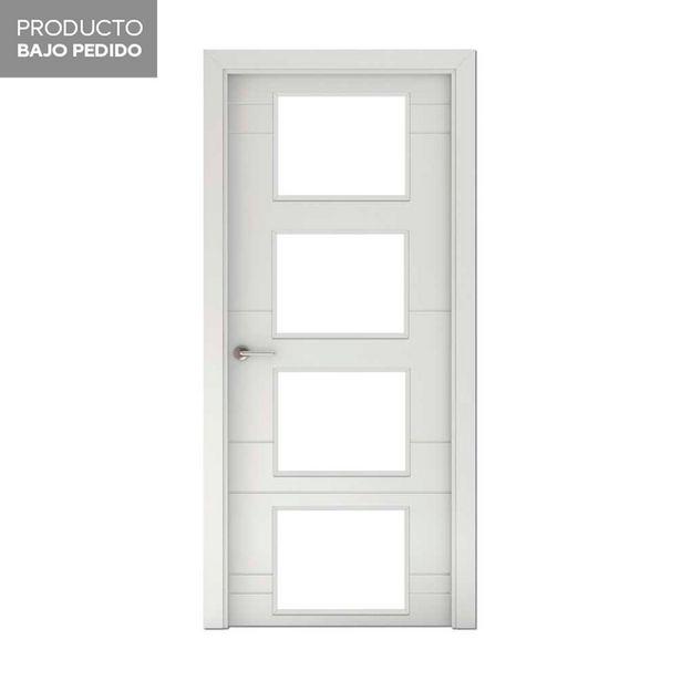 Oferta de Puerta acristalada lacada Munich blanca derecha 203 x 72,5 cm por 179€